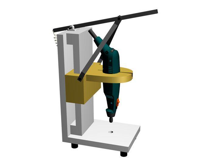 Briquea: Soporte vertical para mini taladro