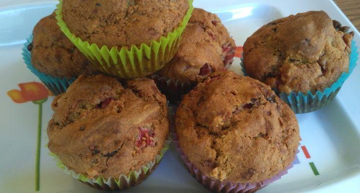 Málnás-csokis muffin recept zabpehelylisztből   APRÓSÉF.HU - receptek képekkel