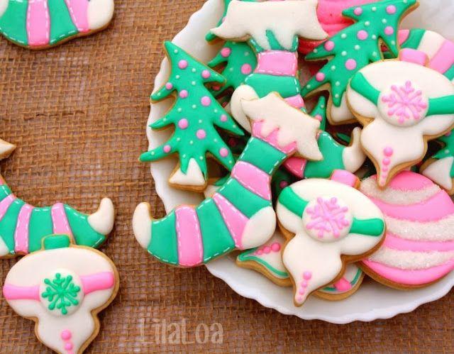 LilaLoa: Christmas Stocking Cookies Tutorial