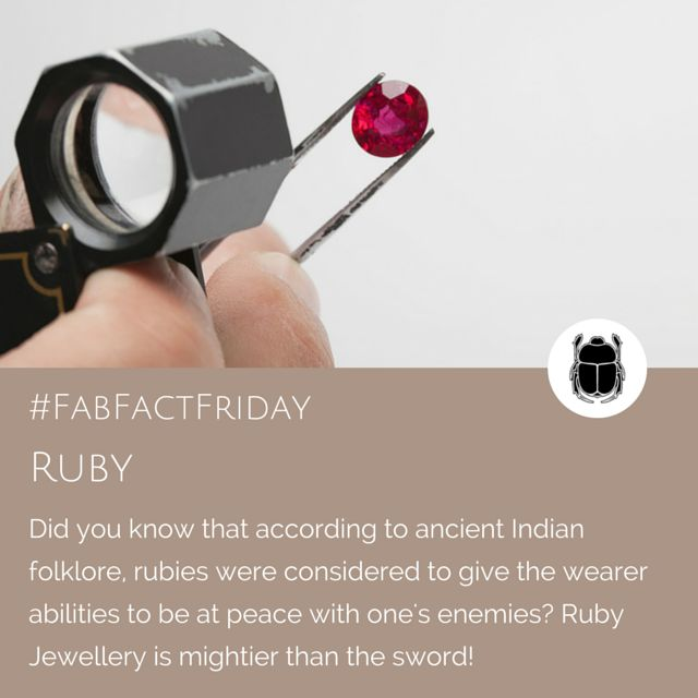 We love the idea that a Ruby has the power to be a peace-maker!