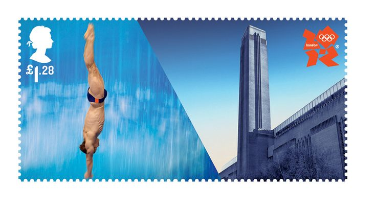 hat-trick design: london 2012 olympics stamps Clever juxtaposition of Olympic sports with London landmarks. #photomontage
