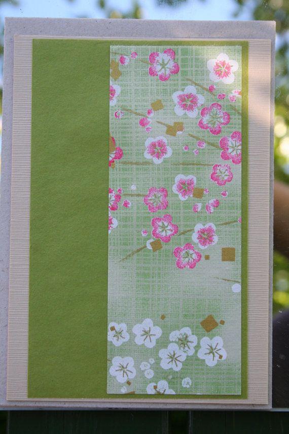 Blommigt kort by Bokbinderi on Etsy