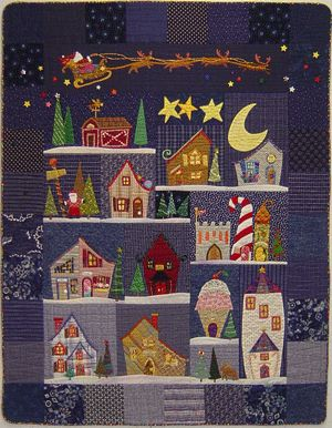 """Welcome to the North Pole"" by Piece o' Cake designs. I've always loved this book and the quilts."