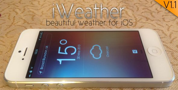 iWeather - a beautiful weather client for iOS   http://codecanyon.net/item/iweather-a-beautiful-weather-client-for-ios/4759358?ref=damiamio       iWeather is a beautiful, simple and feature rich weather client for iOS. It allows you to interact with the Wunderground API to download and present all the latest local/international weather information on the go.  	 Ever needed to show or use weather information in your iOS apps? iWeather will allow you to easily implement weather information to…