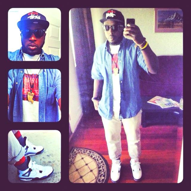 What I wore today... #Stussy #Gap #XXBC #Nike #Jordan4s: Nike Jordan4, Xxbc Nike