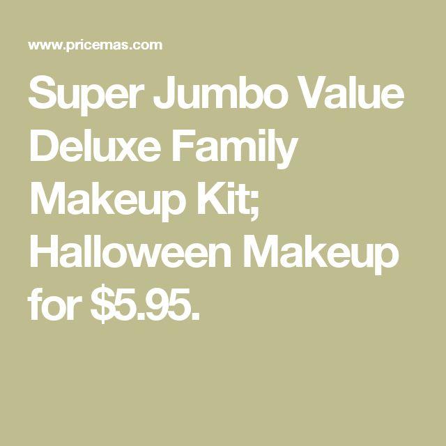 Super Jumbo Value Deluxe Family Makeup Kit; Halloween Makeup for $5.95.