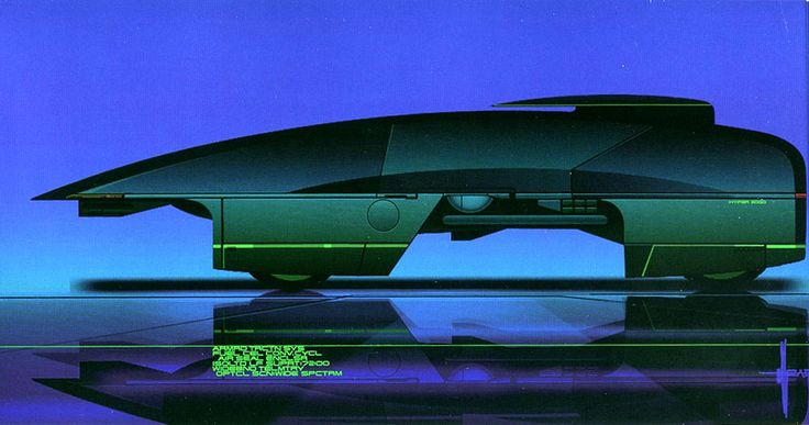 HyperVan concept by Syd Mead