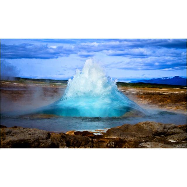 Geyser - Iceland  Photo By Dave Fisher