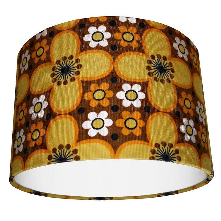 Vintage Fabric Lampshade Sunshine Daisy