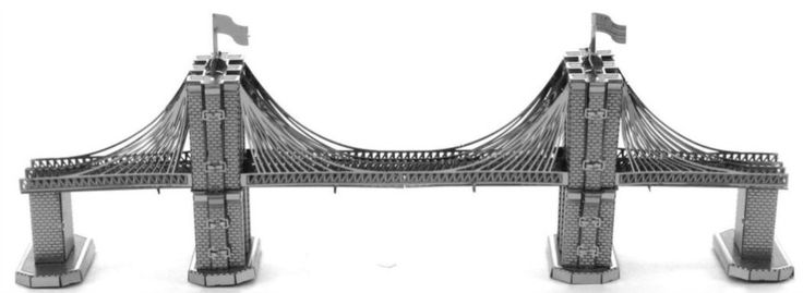 3D kovové puzzle METAL EARTH Brooklynský most, New York, USA