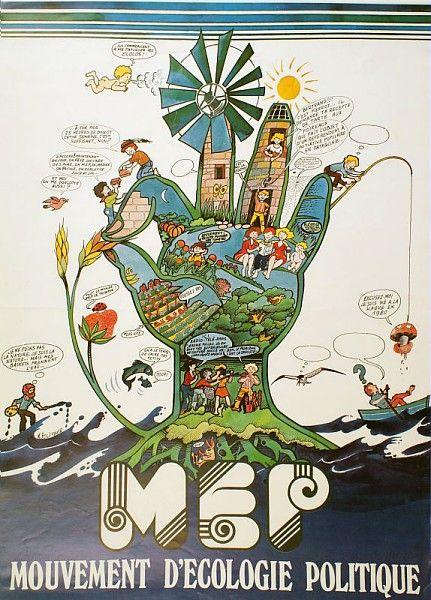 Mouvement d'Écologie Politique, années 1970 /  Collections du Musée du Vivant - AgroParisTech