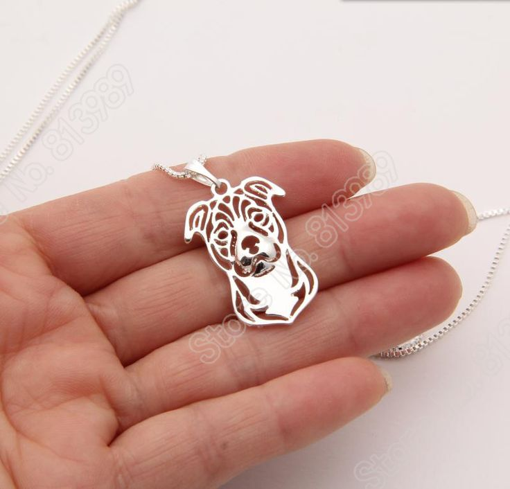 Staffordshire Bull Terrier Necklace 3D Cut Out Puppy Dog Lover Pendant Memorial Necklaces & Pendants Stocking Gift Lead Free Price: USD 3.99 | United States