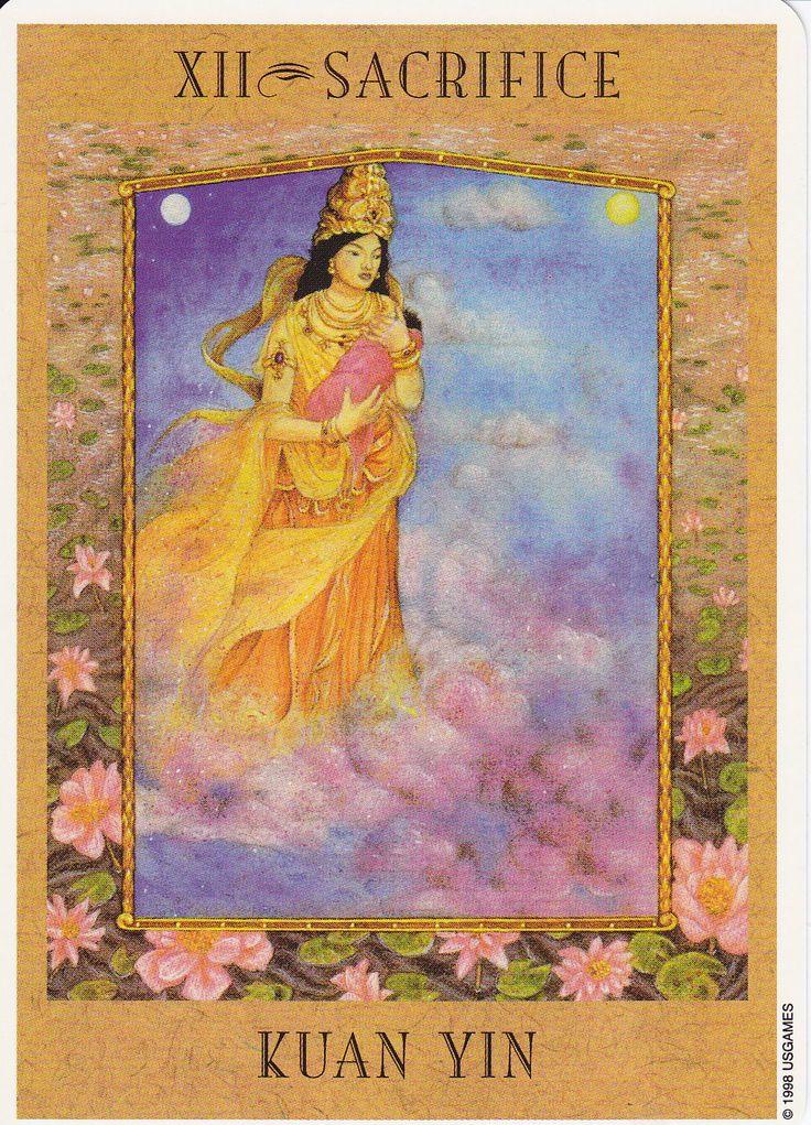 Kuan Yin in The Goddess Tarot by Kris Waldherr