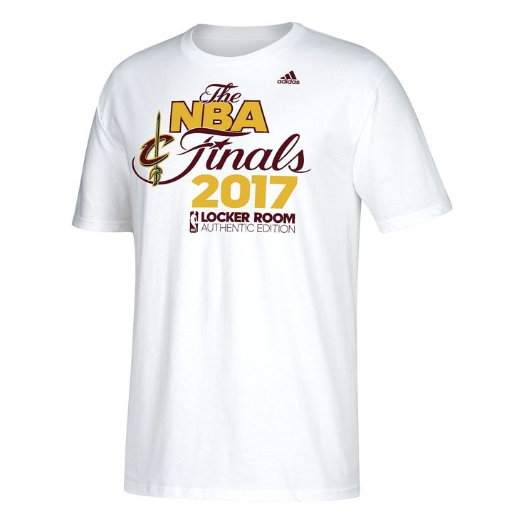 Men's Adidas Cleveland Cavaliers 2017 Conference Champions Onto the Finals Locker Room Tee, Size: Medium, White