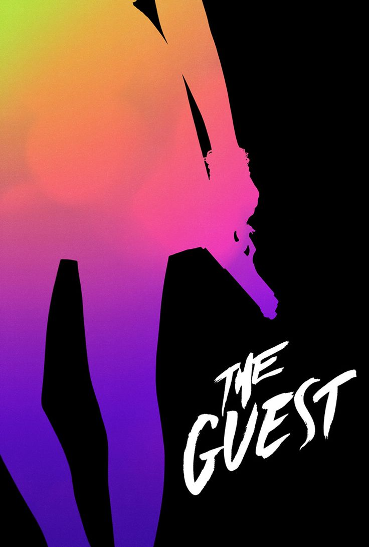 Poster for THE GUEST (Adam Wingard, USA, 2014) #TIFF14  Super cool music soundtrack. Love how one of my fave Xymox songs is featured as well as Love & Rockets! A bit of a goth feel. Dan Stevens was pretty intense & hot in this! #theguest
