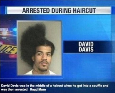 Arrested during haircut - #CrazyPics