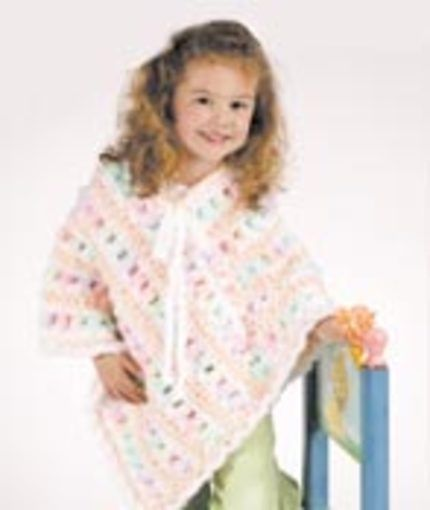 Poncho Red Heart Small 400400 Years And Size Large 4040 Years Interesting Children's Poncho Pattern