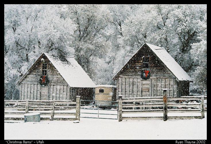 Christmas Barns   I would so do this!