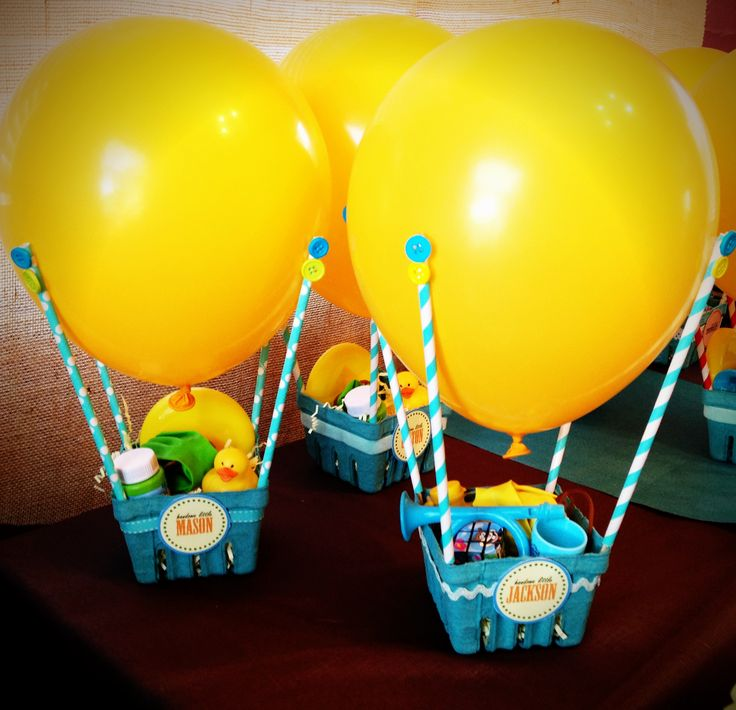 Hot air balloon party favors cute balloons for Balloon decoration for kids party