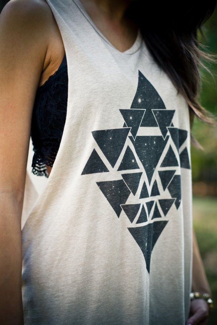 triangle tank top