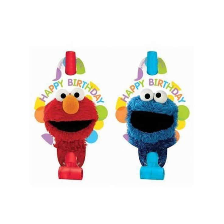 Elmo Cookie Monster Sesame Street Party Supplies Party Blowouts/Blowers/Horn 8pk