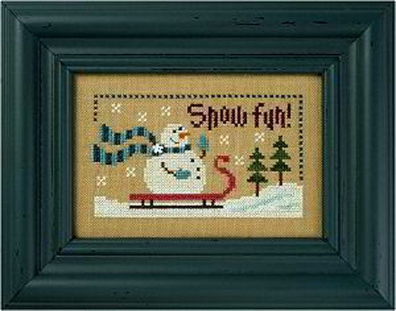 Lizzie Kate Snow Fun F113 Snowman Counted Cross by DebiCreations
