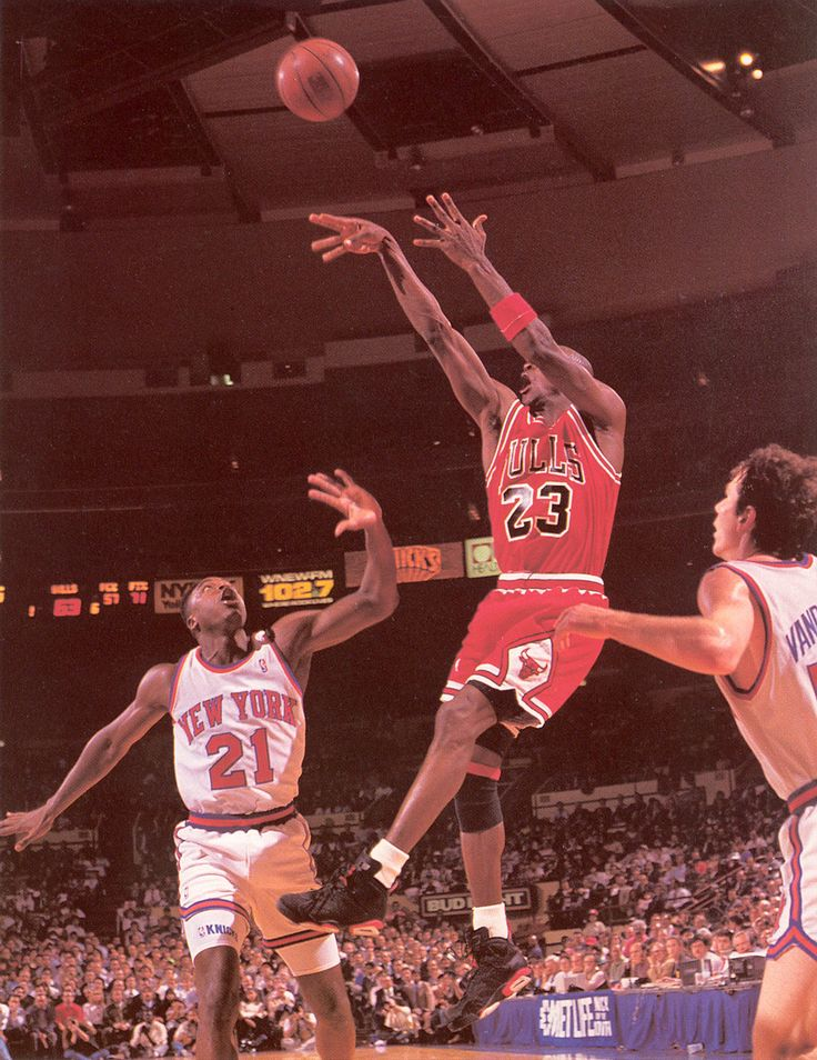 MJ.. '90 - '91 Season. Fadeaway Jumper over Gerald Wilkins @ MSG..