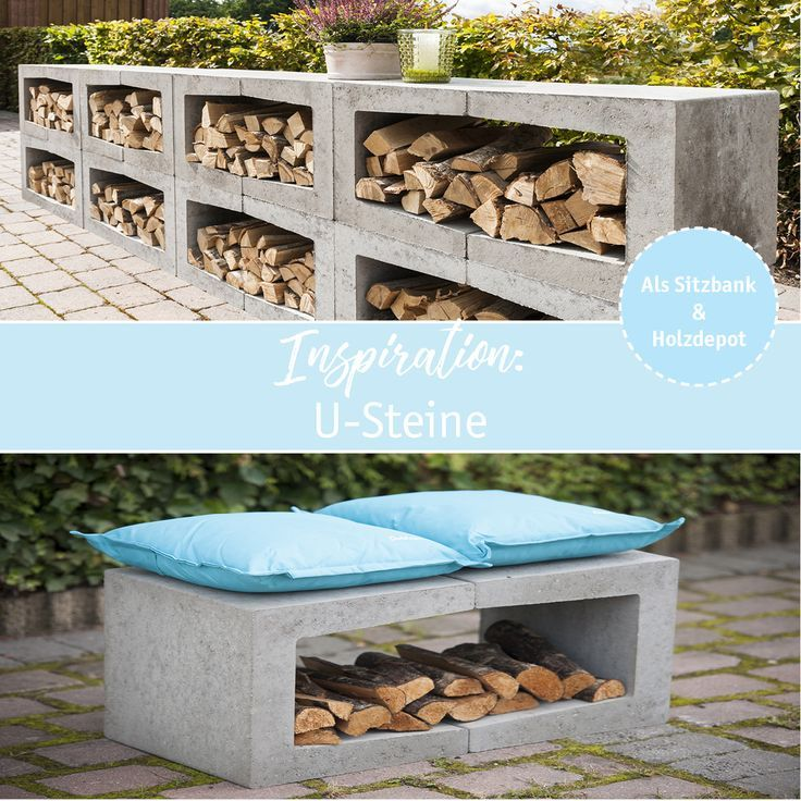 Bench and wooden storage in one? No problem with our DIY idea: just two …