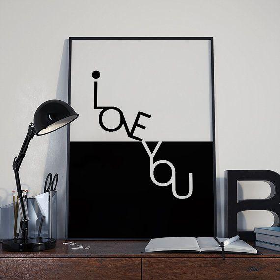 I love youwall artValentines Dayi love you di DamaDigitalDesign