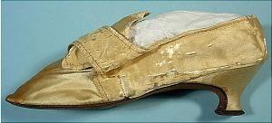 1780 RARE Lady's Shoe of Cream Satin!