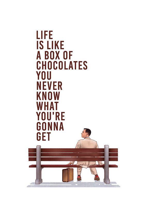 Forrest Gump Poster Tom Hanks Film Poster Forrest от SketchAndType