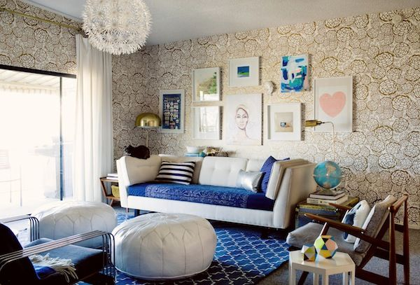 Can you believe this cozy space to be a Nursery Room?  Wooden blocks and familiar images as decor and softcornered poofs instead of table, along with a modern take on the rocking chair works well here. **Concept found at ohjoy.blogs.com