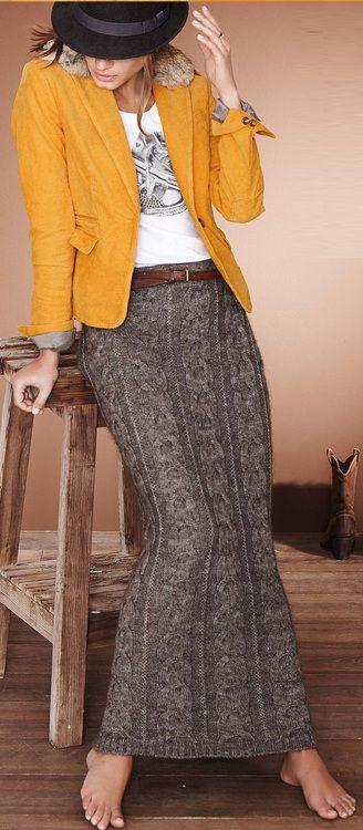 Sweater maxi skirt