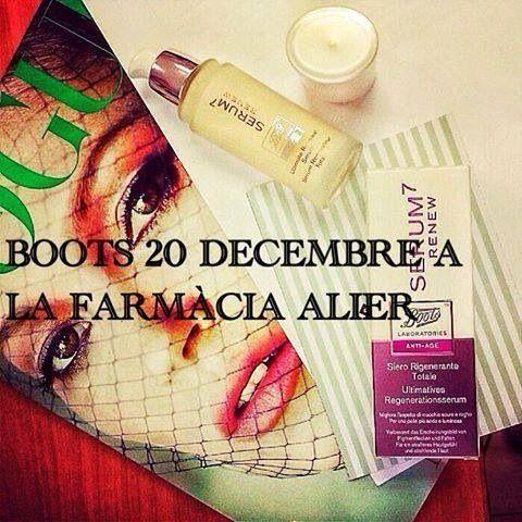 Boots 20 diciembre 2013 en la Farmacia Alier.
