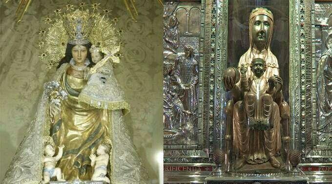 Nuestra Señora de los Desamparados y la Virgen negra de Montserrat de Cataluña .