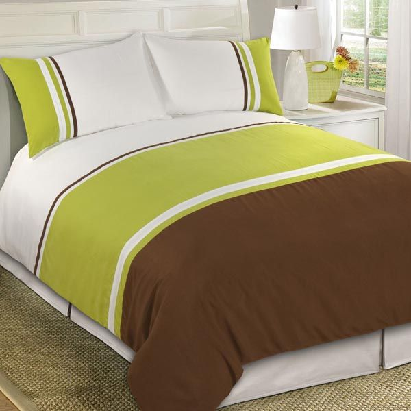 Lohan Green Bedding #attractive #stripes #bed