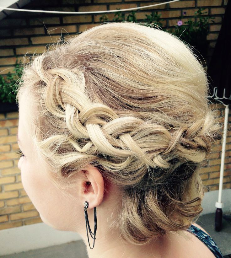 Braided updo - short hair