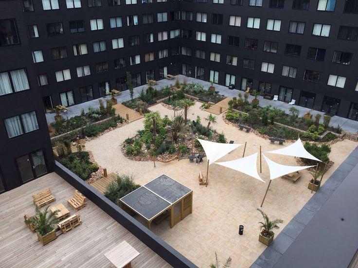 Ibiza made garden for Students Amsterdam