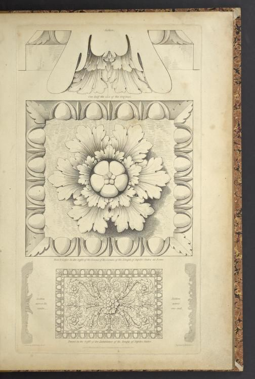 1823 - Examples of ornamental sculpture in architecture drawn from the originals of bronze, marble and terra cot[ta] in Greece, Asia Minor and Italy by Vulliamy, Lewis & Moses, Henry