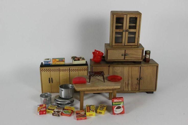 kuchenschranke 50er jahre : Spielzeug Puppenstuben Holz M?bel K?chenschr?nke & Tisch 50er Jahre