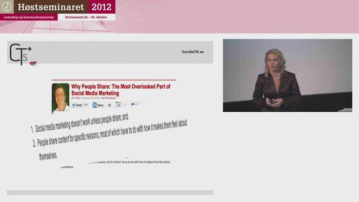 """Mitt foredrag på Høstseminaret 2012: """"Digital kommunikasjon - back to basic"""""""