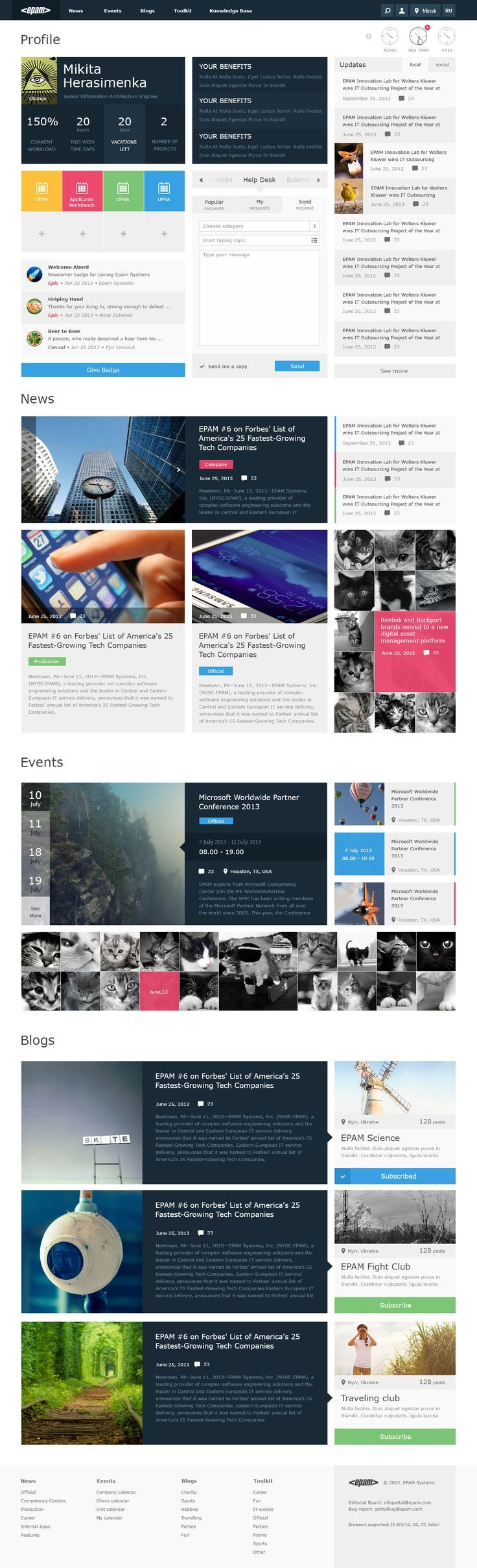 new fresh web design inspiration - Intranet Design Ideas