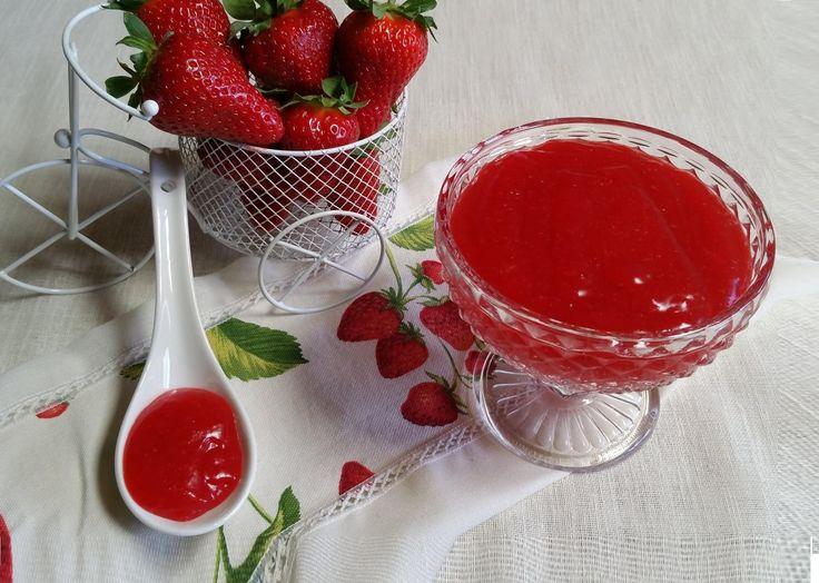 Crema alle fragole gluten free,senza uova e latticini  pronta in soli 2 ...