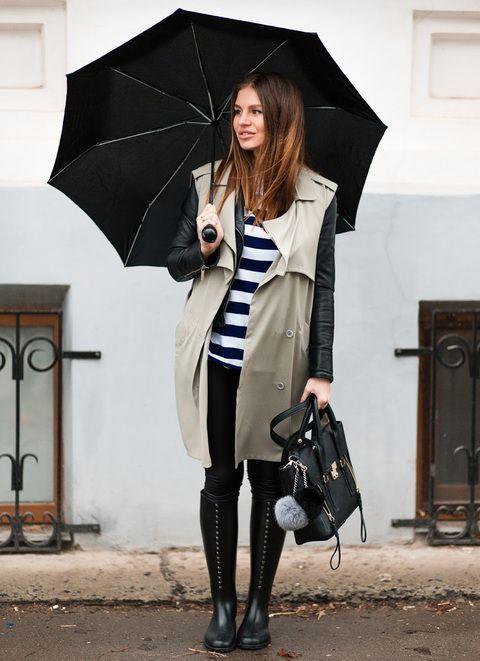 dec956a77 10 outfits de lluvia perfectos para ir a la oficina