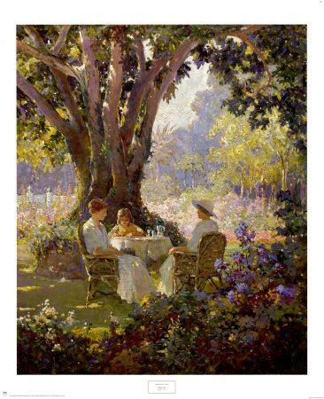 High tea in the garden by Abbott Fuller Grave