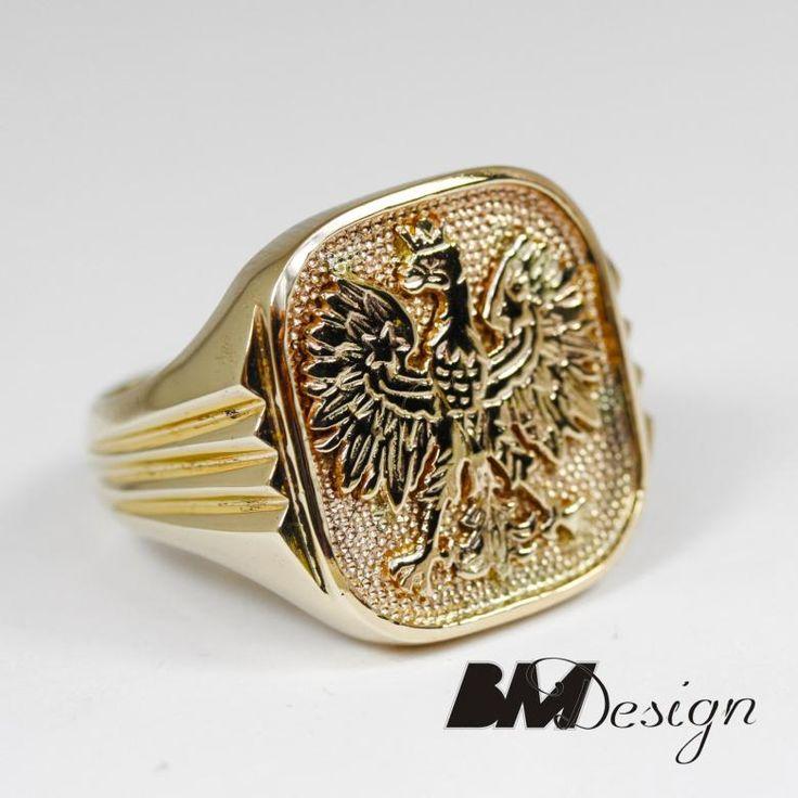 Sygnet z godłem Polski , pieczęć herb wzłocie. Męska biżuteria . Projekt i wykonanie BM Design  #Rzeszów #złotnik #orzeł #godło#pracowniazłoticza #BM #diamenty #diament #brylant #naprawa #nazamówienie #herb #sygnet #pieczęć