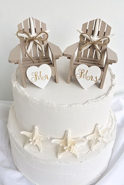 Beach Wedding Cake Topper,Mini Adirondack Chair Set,Beach Wedding,Nautical Wedding,Beach Theme,Bridal Shower Topper,Beach Chairs Cake Topper,wedding cake topper,nautical wedding,beach wedding decor,beach bridal shower cake topper,beach couple shower,beach jack and jill shower,beach co ed shower,engagement cake topper,starfish cake topper,sand cake topper