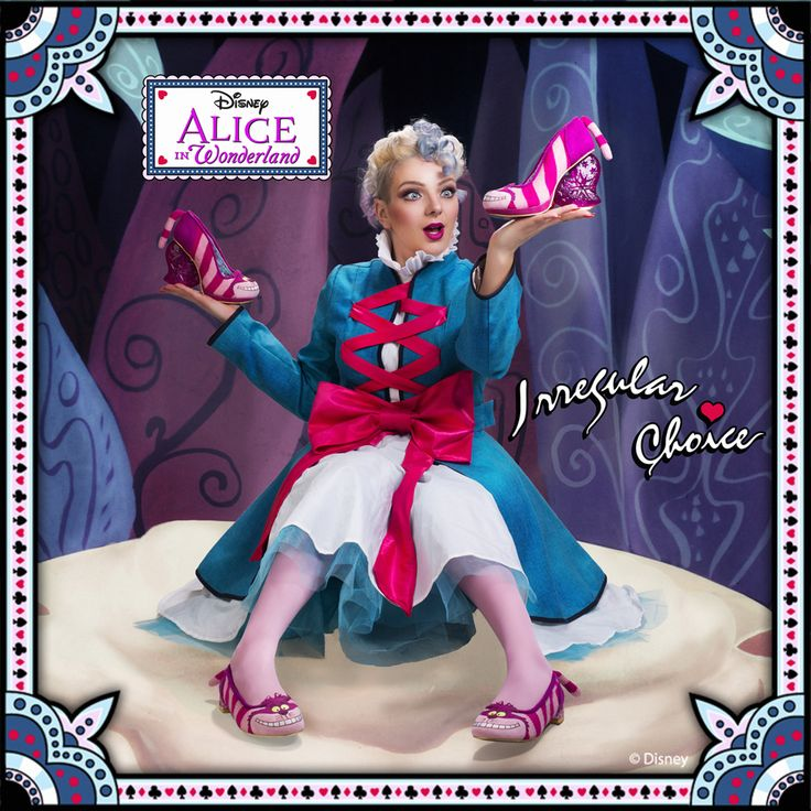 Do you know where you want to go? It really doesn't matter... as long as you're appearing in these Cheshire Cat delights. 'Cheshire Cat' and 'Cheshire Flat' Limited edition Irregular Choice - Alice in Wonderland collection appearing in stores worldwide soon... #IrregularAlice www.irregularchoice.com