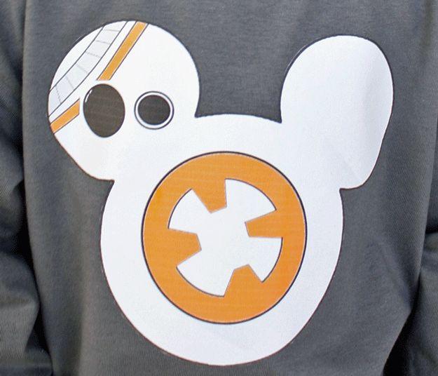 DIY Disney BB-8 Shirt | 6 DIY Disney Crafts You Can Wear, check it out at http://diyready.com/disney-crafts-fashion/