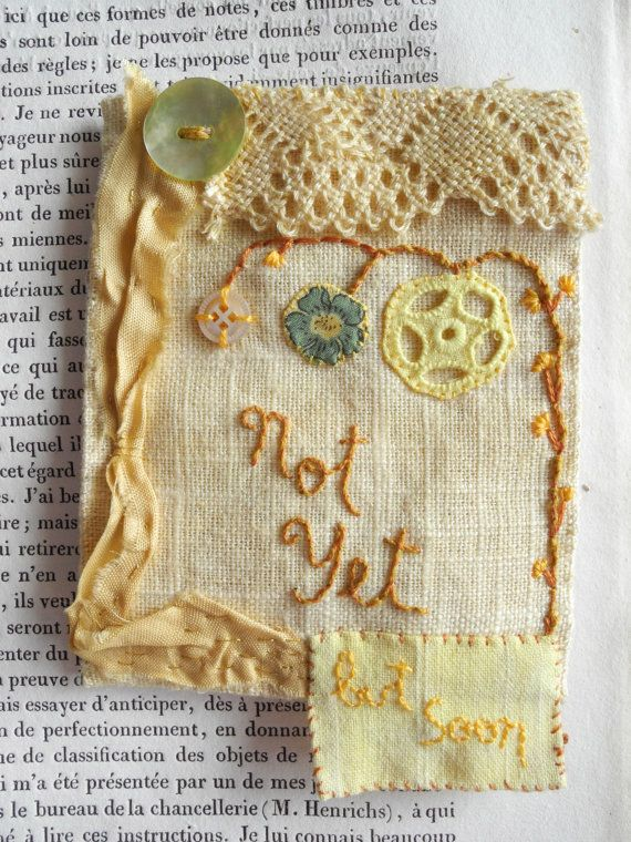 Embroidered words, textile art,  by giovabrusa